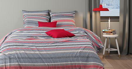 Boden Pewter-Red  bedlinnen Mistral Home