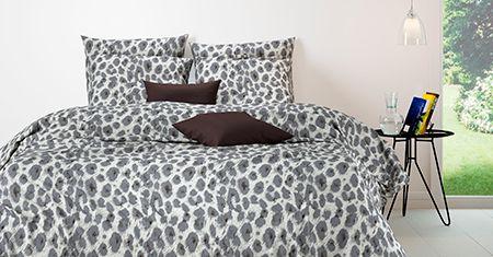 Panther Sand-Grey katoenen bedlinnen Mistral Home