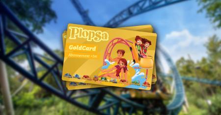 Plopsa-GoldCard met € 15 korting