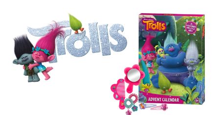 Adventskalender van Trolls met 24 haaraccessoires