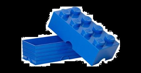 Blauwe opbergbox van LEGO