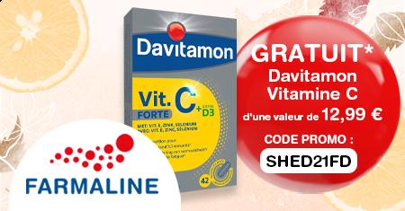 Recevez un complément de vitamine C Davitamon chez Farmaline