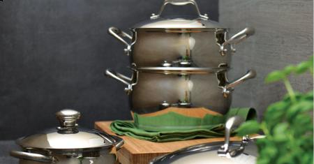 Kookpot en stoommandje 20cm van BergHOFF
