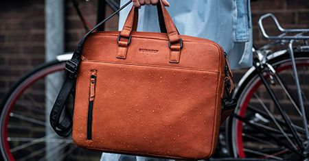 Sac en cuir imperméable BURKELY Rain Riley Laptopbag