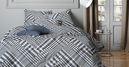 Parure de lit Mistral à carreaux